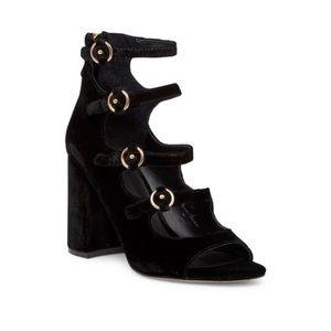 NEW • Joie • Laina Block Heel Velvet Sandals 9.5